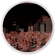 Reno Night Life Round Beach Towel