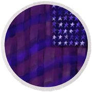 Repersentational Flag 3 Round Beach Towel