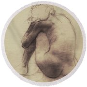 Repose Round Beach Towel by Eric Fan