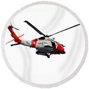 Rescue Helecopter Round Beach Towel