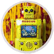 Rescue Robot Round Beach Towel