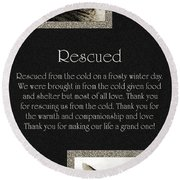 Rescued Round Beach Towel