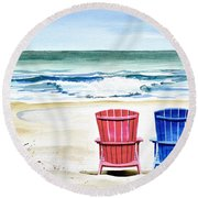 Reservations For Two Round Beach Towel