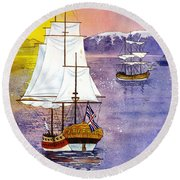 Resolution In Cook Inlet Round Beach Towel