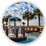 Resort Pool Round Beach Towel