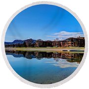 Resort Reflections 2 Round Beach Towel