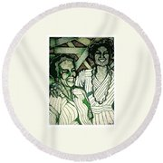 Respect Your Heritage Round Beach Towel