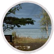 Rest And Relaxation Round Beach Towel