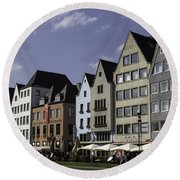 Restaurants And Brewpubs Along The Rhine Cologne Round Beach Towel
