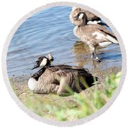 Resting Round Beach Towel