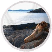 Resting Traveller Round Beach Towel