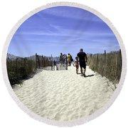 Restricted - Bridgehampton - New York Round Beach Towel
