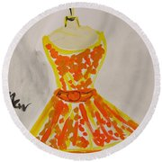Retro Fall Fashion Round Beach Towel