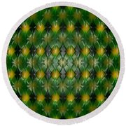 Pattern Plastic Round Beach Towel