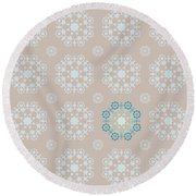 Retro Wallpaper Round Beach Towel