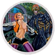 Return Of The Living Dead Round Beach Towel