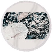 Return To Nature Round Beach Towel