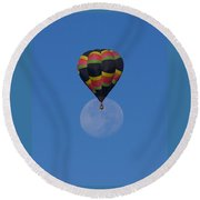 Returning From The Moon Landing Round Beach Towel