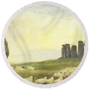 Returning Home     Stonehenge Round Beach Towel