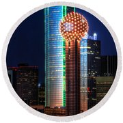 Reunion Tower Round Beach Towel