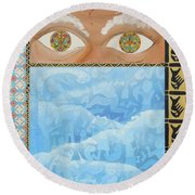 Revelations Round Beach Towel