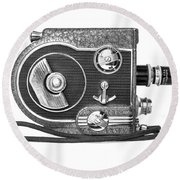Revere 8 Movie Camera Round Beach Towel