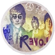 Revolution Round Beach Towel