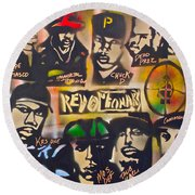 Revolutionary Hip Hop Round Beach Towel