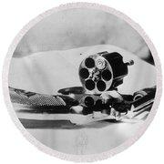 Revolver, 1912 Round Beach Towel