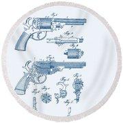 Revolver Patent E.t Starr Round Beach Towel