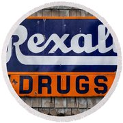 Rexall Drugs Round Beach Towel