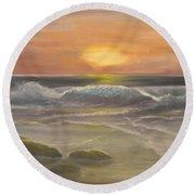 Rhapsody Of Waves Round Beach Towel