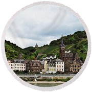 Rhine River View Round Beach Towel