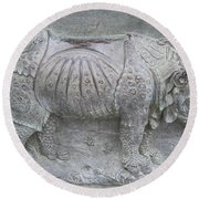 Rhino Relief - Church Door Detail Pisa Round Beach Towel
