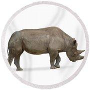Rhinoceros Round Beach Towel
