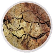 Rhinoceros From Chauve Cave Round Beach Towel