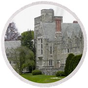 Rhoads Hall Bryn Mawr College Round Beach Towel