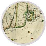 Rhode Island 1780 Round Beach Towel