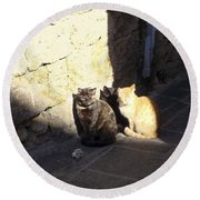Rhodes Cat Trio Round Beach Towel
