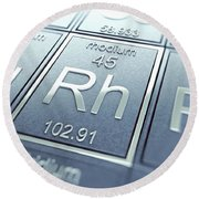 Rhodium Chemical Element Round Beach Towel
