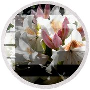 Rhododendron Collage Round Beach Towel