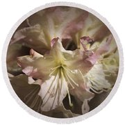 Rhododendron Mary Fleming Round Beach Towel