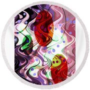 Rhythem Of Change II Round Beach Towel