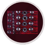 Rhythm From The Series The Elements And Principles Of Art Round Beach Towel