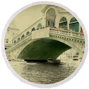 Rialto Bridge Round Beach Towel