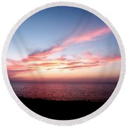 Ribbon In The Sky Round Beach Towel