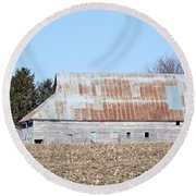 Ribbon Roof Barn Round Beach Towel
