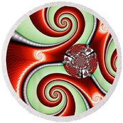 Ribbons And Bows Round Beach Towel