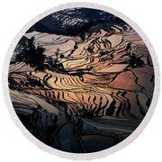 Rice Terrace Field Of Yuan Yang Round Beach Towel