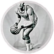Rick Barry Round Beach Towel